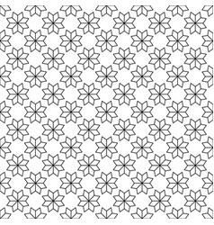 black flower star japanese seamless on white vector image