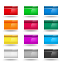 color set of computer windows on white vector image vector image