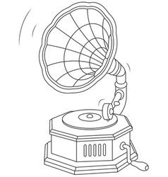 Old vintage gramophone vector