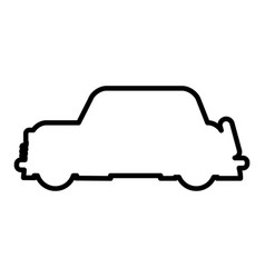 outlined car vehicle transport modern desing vector image vector image