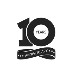 10 years anniversary pictogram icon 10th vector