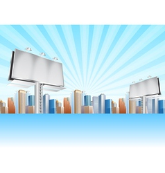 billboards and city vector image vector image
