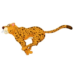 cute cheetah cartoon running vector image