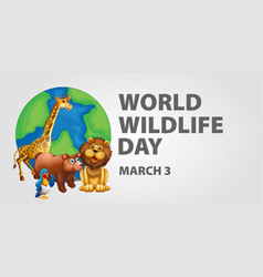 Poster design for world wildlife day vector