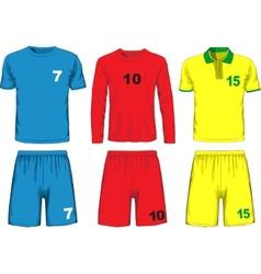 Set of different soccer uniform vector image