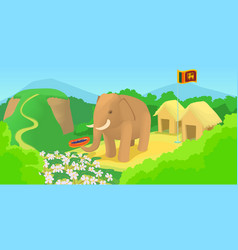 sri lanka horizontal banner travel cartoon style vector image vector image