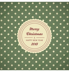 vintage christmas card background vector image