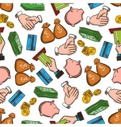 Business money success seamless background vector
