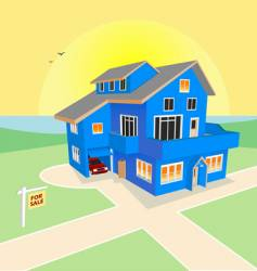 dream home for sale vector image