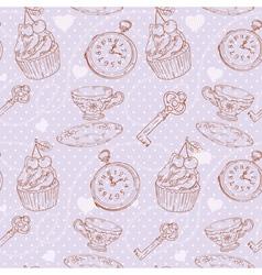 Romantic love vintage pattern vector image vector image