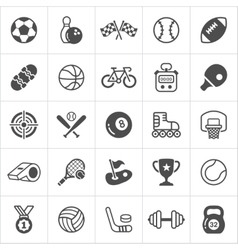 Trendy sport flat icons vector image