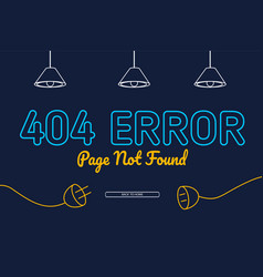 404 error not found page background design vector image