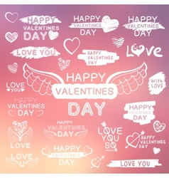 Abstract background with texts for love confession vector