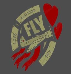 Airplane emblem2VS vector