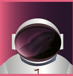 Astronaut and space design vector