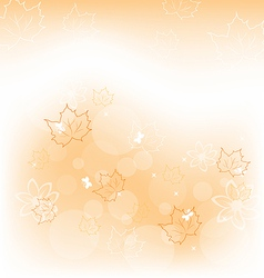 Autumn background with orange maple leaves vector image