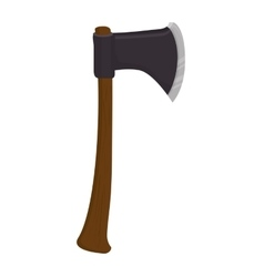 axe medieval weapon vector image
