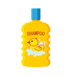 baby shampoo bottle logo duckling vector image