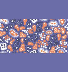 bacteria virus doodle seamless pattern minimalism vector image