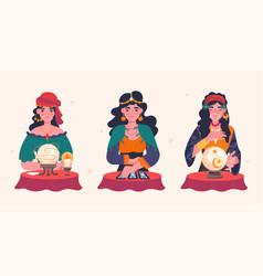 beautiful fortune tellers vector image