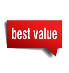 Best value red 3d speech bubble vector