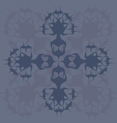 blue abstract wild flower vector image