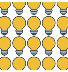 Bulb light pattern icon vector