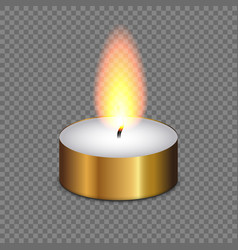 candle light flame isolated vector image