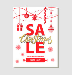 Christmas sale shop now on vector