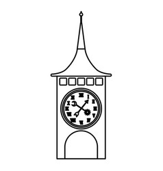 Clock of tower switzerland vector