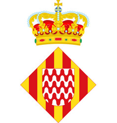 Coat of arms of girona is a city of spain vector