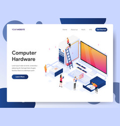computer hardware engineer isometric vector image