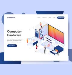Computer hardware engineer isometric vector