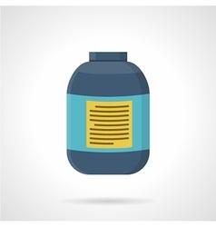 Creatine jar flat color icon vector image vector image
