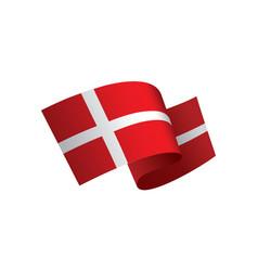 Danmark flag vector
