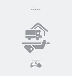 Delivery services - web icon vector