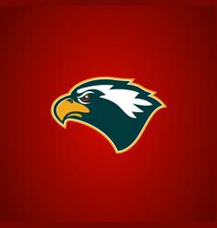 eagle head sign design element for sport team vector image