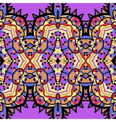 ethnic seamless pattern background in violet and vector image