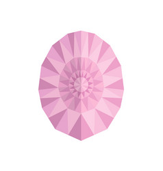 Faceted gem on white background triangulation vector