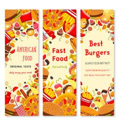 Fast food restaurant banner for menu flyer design vector