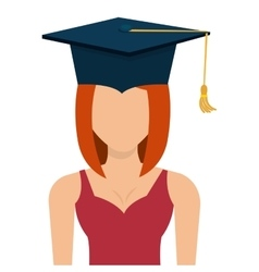 Female student graduation avatar profile vector image