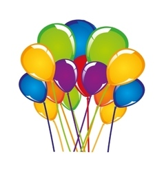 festive balloon icon image vector image