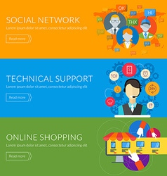 Flat design concept for technical support social vector