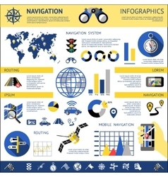 Flat Navigation Infographics vector