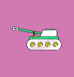 Flat shading style icon military tank vector