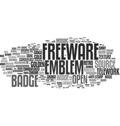 Freeware word cloud concept vector