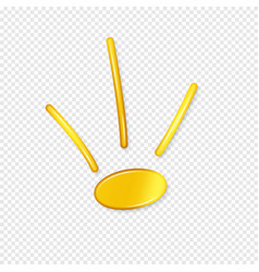 Golden crown with shadow on a transparent vector