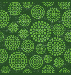 green circles fabric textured seamless pattern vector image