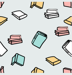 hand drawn books seamless pattern background vector image