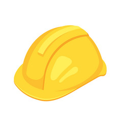 Isometric yellow worker hat vector
